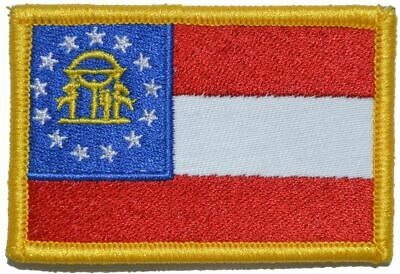 Georgia State Flag - 2x3 Military/Morale Patch Hook Backing