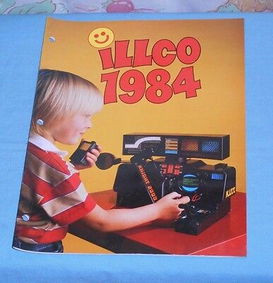 original 1984 ILLCO TOYS dealers' CATALOG Knight Rider Dungeons & Dragons Smurfs