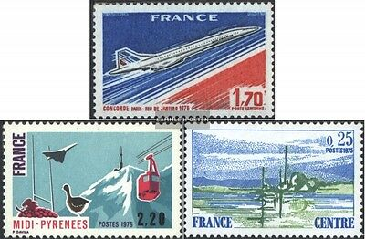 France 1951,1952,1954 (complete issue) unmounted mint / never hinged 1976 Airmai