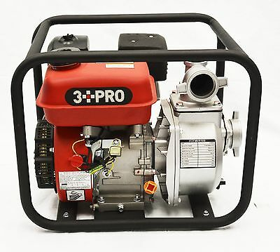 """3PRO 2"""" Gas Powered Clear Water Transfer Pump 6.5HP 4-Cycle Self Prime Cleanup"""