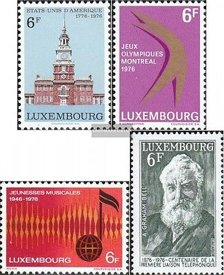 Luxembourg 930,931,932,935 (complete issue) unmounted mint / never hinged 1976 s