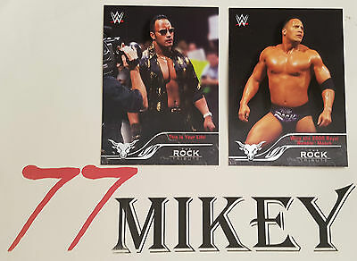 2016 Wwe Topps  Rock Tribute Pick 1 From The List For $2.50