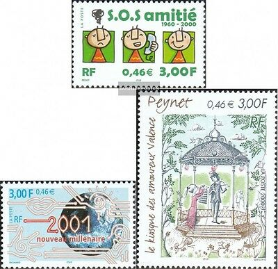 France 3496,3497,3499 (complete issue) used 2000 special stamps