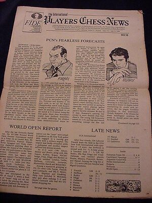 6 Issues of Players Chess News Newspaper 1983  Vol 5  No 1,2,3,4,5,6