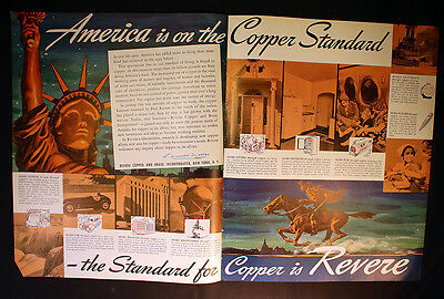 1940 2 Pg Revere Copper Brass Liberty OR Cutler Hammer Motor Control Ad Fortune