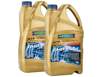 8 (2x4) Liter RAVENOL ATF 6HP Fluid Automatikgetriebeöl Made in Germany