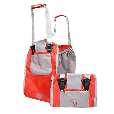 CarryMore Set of 2 Reusable Shopping Bags - Red/Gray