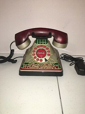 Coca-Cola Push Button Phone Tiffany Style Decoration 2001 Collection Piece