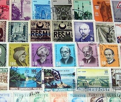 Turkey 250 different stamps