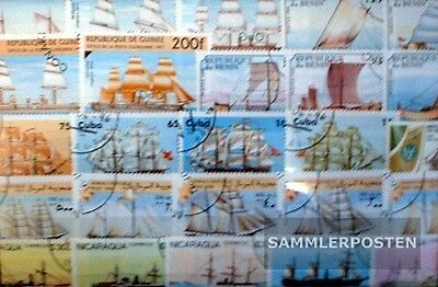 Thematics 300 different Vessels and Boats stamps