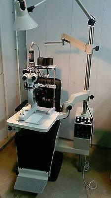 Marco Ophthalmic Exam Lane chair & stand package w/ slit lamp