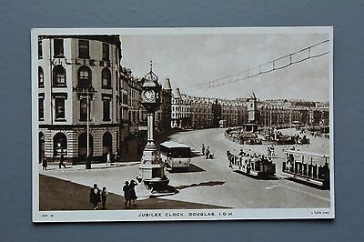 R&L Postcard: Isle of Man IOM Jubilee Cloc, Tuck's, Unposted, Bus