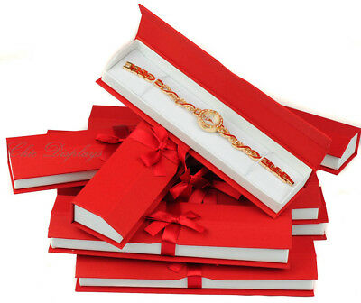 Red Watch Gift Boxes for Bracelet Boxes High Quality Red Jewelry Gift Box 12 Pc