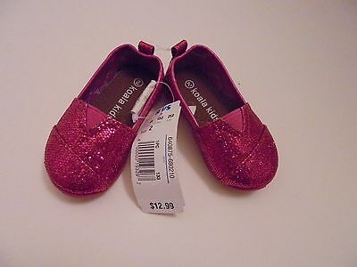 NWT Koala Kids Baby Toddler Girl Shoes Pink sparkle Shoes Size 2