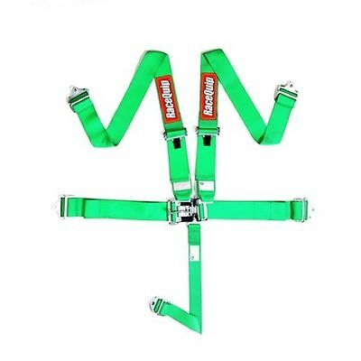 Racequip 711071 5 Point Latch & Link Style Racing Seat Belt Harness Green