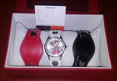 Betty Boop Watch with 3 Interchangable Bands New in Box 2011