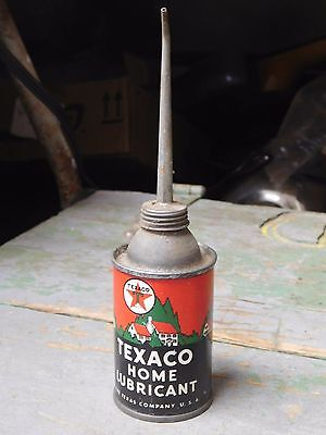 Vintage Texaco Home Lubricant oil can 3 oz size