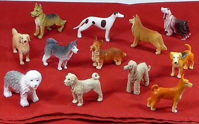 Collection of 12 Composite Miniature Dog Figurines
