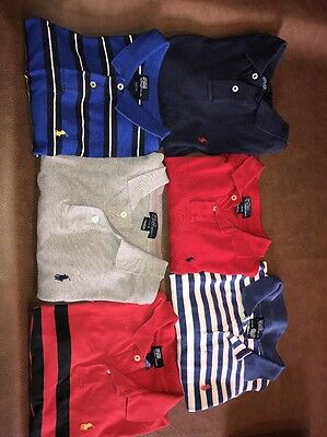 Lot Of 6 Boys Large Ralph Lauren Polo Shirts