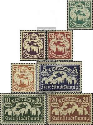 Gdansk 112-118 with puncture, perforation possibly. errors mint never hinged mnh