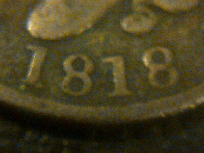 1818 Large U.s. One Cent Coin