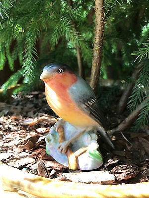 Vintage Royal Worcester BullFinch 3238 Bird Figurine Made in England Bull Finch