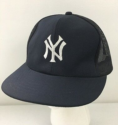 9ab4978272f ... new zealand vintage 80s new york yankees mlb annco trucker hat mesh  snapback ball cap navy ...