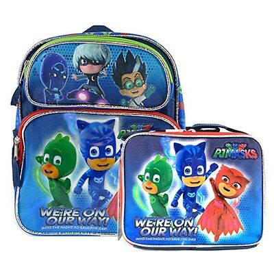 "Disney PJ Mask 16"" Backpack Bag + Lunch Bag We're On Our Way"
