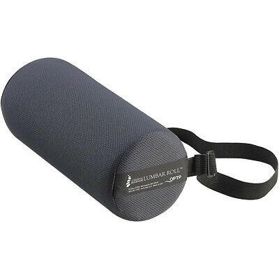 OPTP Original McKenzie Lumbar Roll Firm Lower Back Support Cushion - Black