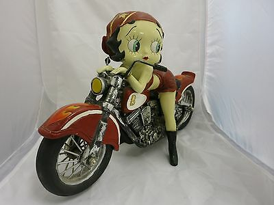 Rare! Betty Boop on Motorcycle Polyresin Figurine Statue