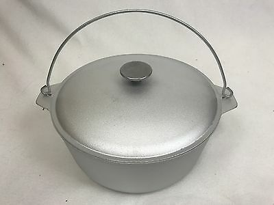 5 litter outdoor Cooking Cast Aluminum pot camping Dutch Oven Lid vintage style