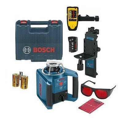 Bosch GRL300HV Rotating Laser Level with CST RD5 Laser Receiver and Clamp