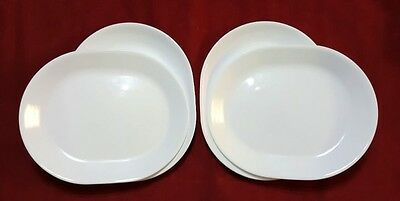 "Four New Corelle Livingwear 12 1/4"" Winter Frost White Oval Platters Chip Proof"
