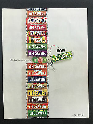 1964 Vintage Magazine Ad ~ Life Savers (5 cents)