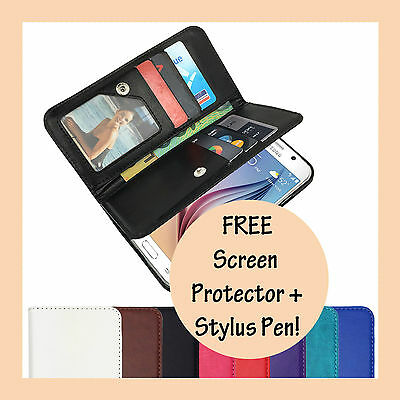 Leather Flip Case Wallet Stand Gel Cover For Samsung Galaxy J1 2016 J16 & Mini