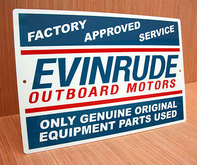 Evinrude Outboard Motors Factory Approved Service Sign