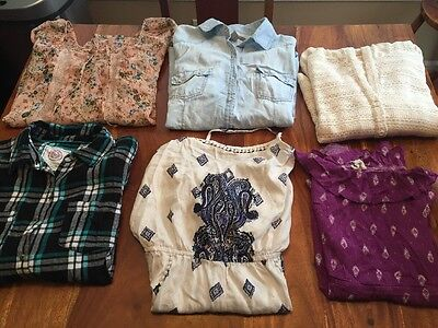 Women's Juniors Lot Of 6 Size Large Tops, One Piece Shorts Jumpers Mixed (BB)
