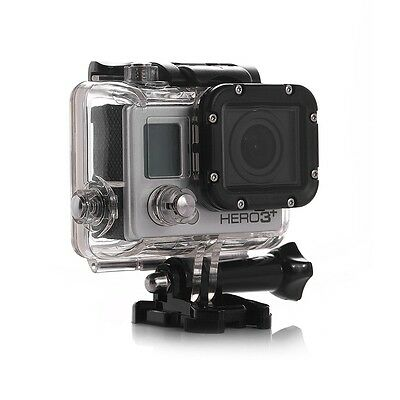 Skeleton Protect Housing Case Mount + Lens For GoPro HERO 3 3+ (Side Opening)
