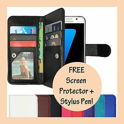Wallet Magnetic Flip Stand PU Leather Case For Samsung Galaxy S7  S7 Edge