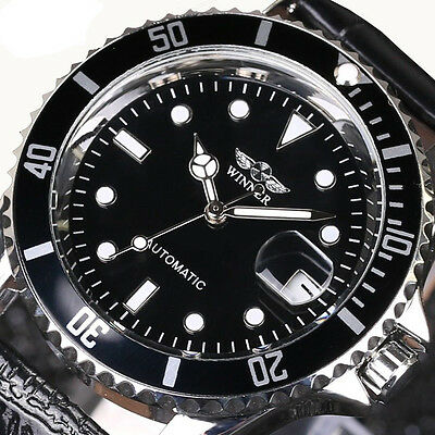 Winner Fashion Stainless Steel Calendar Display Automatic Mechanical Men Watches