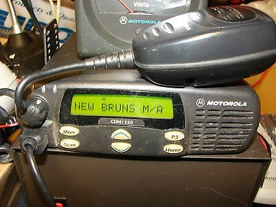 Motorola CDM1250 UHF AAM25SKD9PW2AN  450-512 MHz EMS GMRS FIRE POLICE No 2