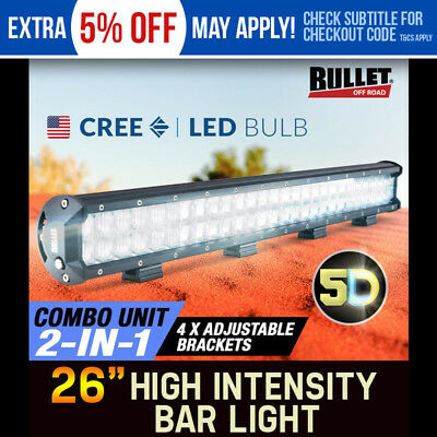 BULLET 540W LED Driving Lights 5D CREE 26 inch 4WD Flood Spotlights Offroad 4x4