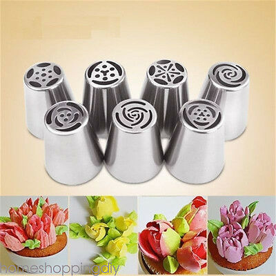 Russian Flower Icing Piping Nozzles Tips Pastry Cake Decors DIY Baking Tool SP