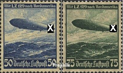 German Empire 606X-607X (complete issue) Hooks in WZ. after left unused 1936 Air
