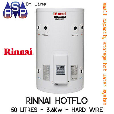Rinnai Hotflo Electric Hot Water 50L 2.4kW Single Element (Plug in)