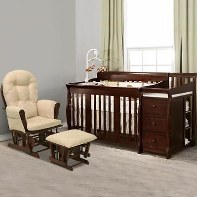 Baby Crib With Changing Table Dresser Toddler Bed Daybed Full Storage Drawers