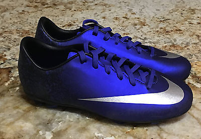 0da4ba976 Youth 1.5 2.5 NIKE Mercurial Victory V CR7 FG Deep Royal Blue Silv Soccer  Cleats
