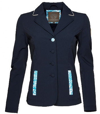 Subscribe Angela Competition Jacket in Navy Horse Riding Clothing Womens in Navy