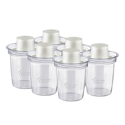 Baby Storage Container Travel Portable Milk Powder Dispensers Formula Box 6 Pack