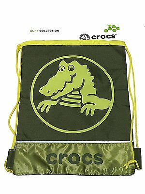 Crocs Childrens Duke Sackpack Drawstring Backpack Army Green